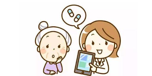 卡通 詢問 醫師 醫生咨詢 開藥 APP 掃碼 藥物 老奶奶 人物